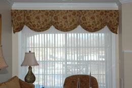 Top Treatments, valances, cornices, swags, cascades, scarves